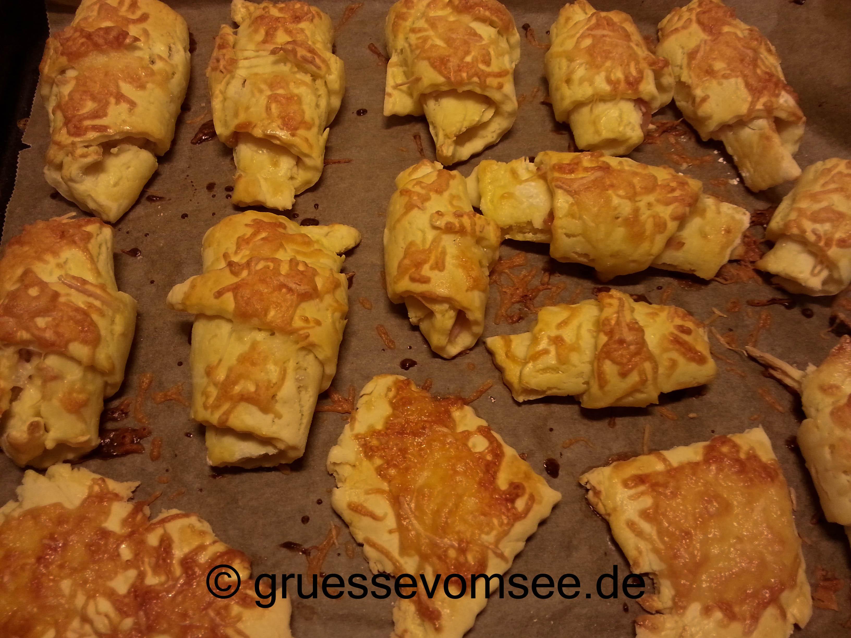 {Rezept}Schinken-Käse-Croissants