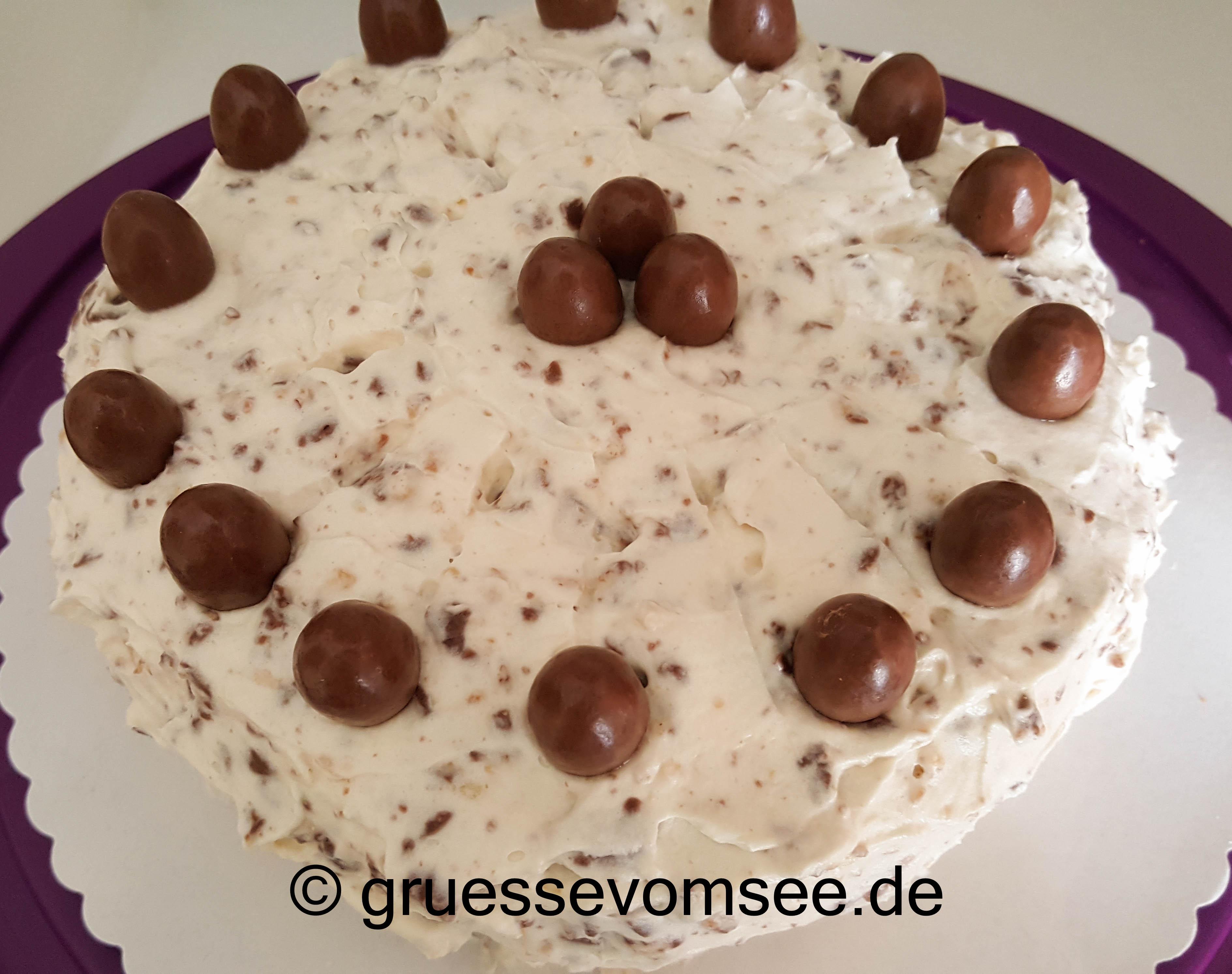 {Rezept} Mandel-Marzipan-Rocher-Torte