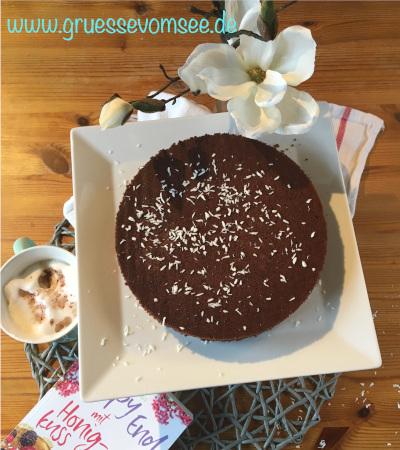 """Schokokuchen nach einem Rezept aus dem Buch """"Happy End mit Honigkuss"""" von Janina Venn-Rosky"""