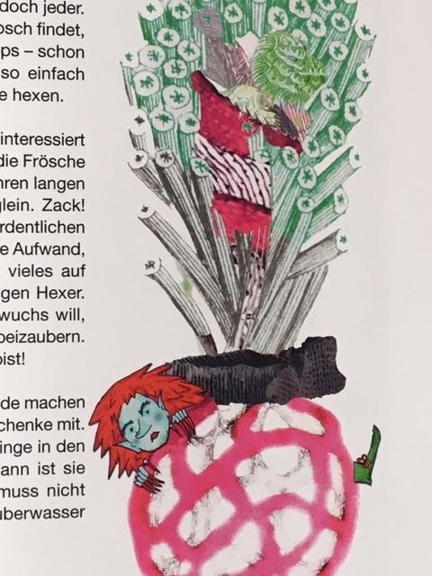 Die grüne Hexe aus dem Kinderbuch Rudi Rakete und das Haus am Fluss