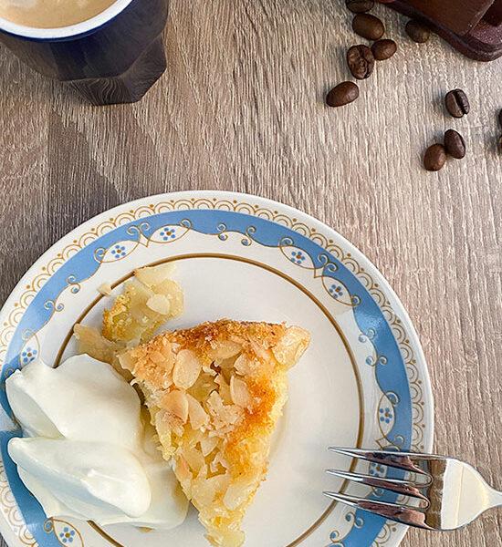 Glutenfreier Apfelkuchen mit Mandelkruse
